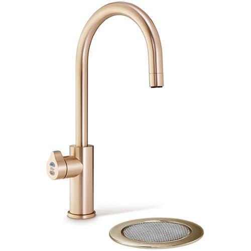Zip Arc Design Filtered Boiling Hot Water Tap & Font (Brushed Rose Gold).