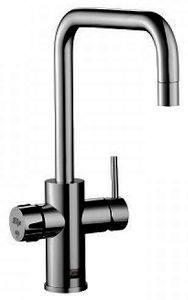 Zip Cube Design AIO Filtered Boiling Water Tap (Gloss Black).