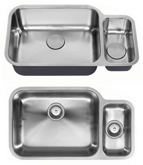 Undermounted Two Bowl Kitchen Sink With Kit  Satin
