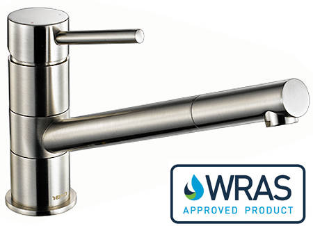Additional image for Pluie Single Lever Kitchen Tap (Brushed Steel).