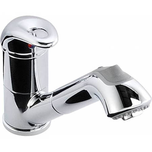 Additional image for Draco Single Lever Pull Out Kitchen Tap (Chrome).