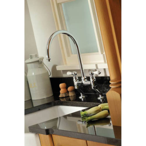 Additional image for Ludlow Bridge Kitchen Tap (Brushed Nickel).