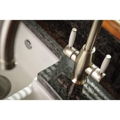 Additional image for Harrington Monobloc Kitchen Tap (Brushed Nickel).