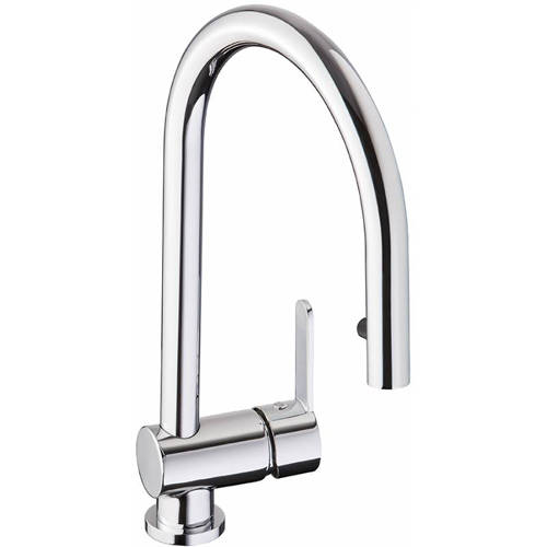 Additional image for Czar Single Lever Pull Out Kitchen Tap (Chrome).