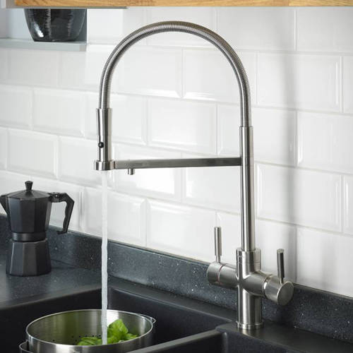 Additional image for 3 In 1 Professional Boiling Water Kitchen Tap (Br Nickel).