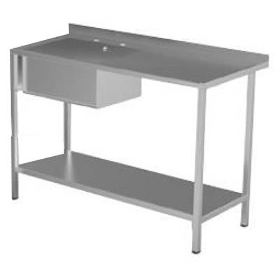 Additional image for Catering Sink With RH Drainer & Legs 1000mm (Stainless Steel).