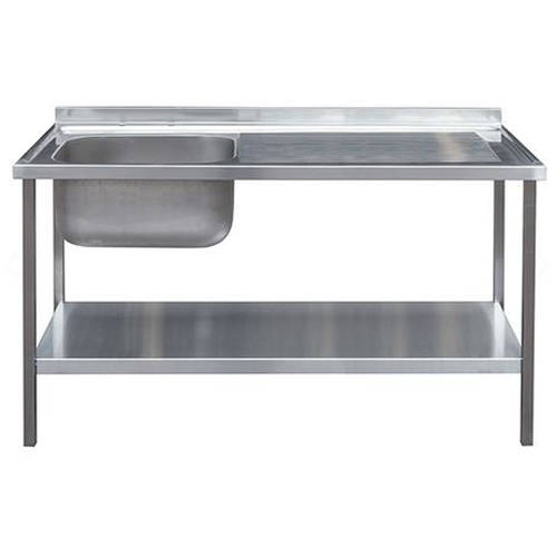 Additional image for Catering Sink With RH Drainer & Legs 1200mm (Stainless Steel).