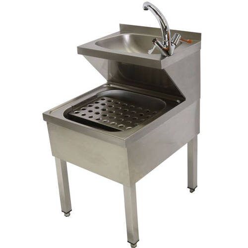Additional image for Hospital Janitorial Sink With Legs & Mixer Tap 500mm (S Steel).