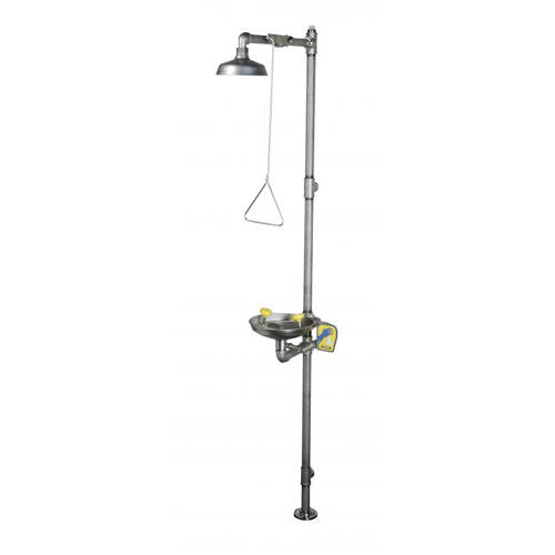 Additional image for Combination Emergency Drench Shower With Column (All Stainless).