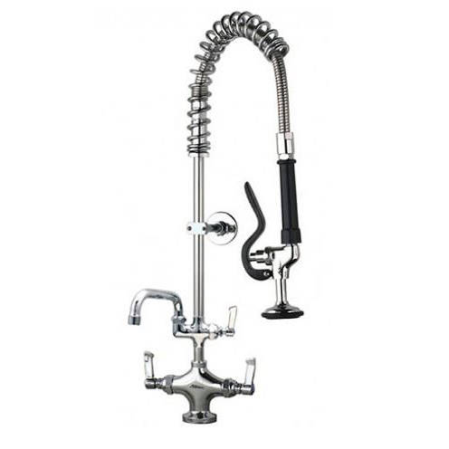 "Additional image for Short Pre Rinse Monoblock Catering Tap With 12"" Spout."