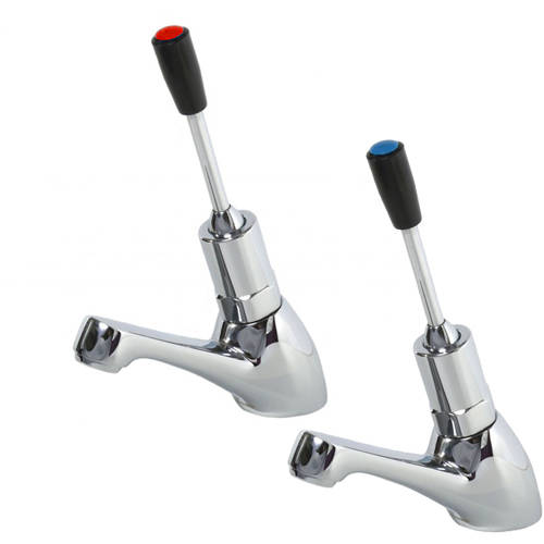 Additional image for Toggle Lever Non Concussive Basin Tap (Pair, Chrome).