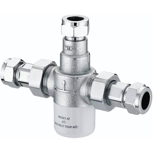 Additional image for TMV3 Thermostatic Mixing Valve (3x15mm, Single).