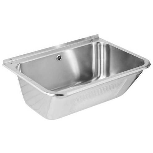 Additional image for Large Wall Mounted Utility Sink 655mm (Stainless Steel).