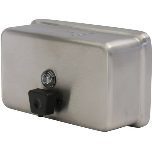 Additional image for Liquid Soap Dispenser 1.2L (Stainless Steel, Horizontal).