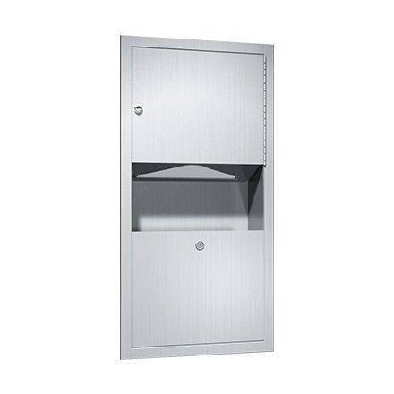 Additional image for Recessed Paper Towel Dispenser With Integrated Bin (S Steel).