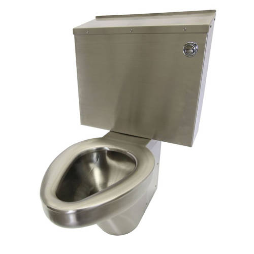 Additional image for Close Coupled Toilet & Cistern (Stainless Steel).