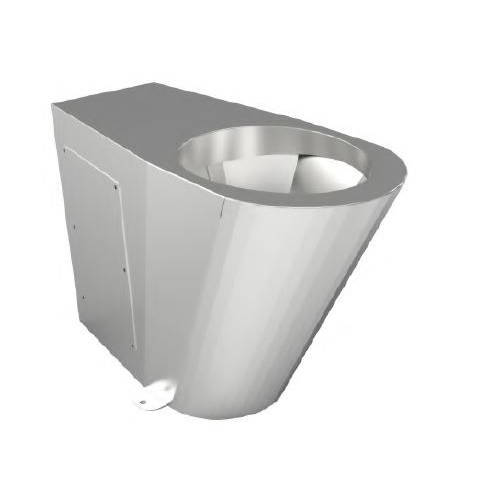 Additional image for Back To Wall  Disabled Toilet Pan (Stainless Steel).