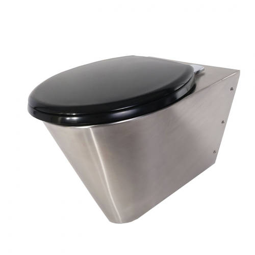 Additional image for Wall Mounted Toilet Pan (Stainless Steel).