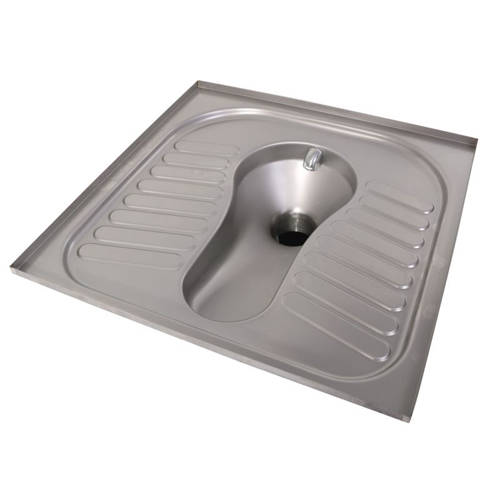 Additional image for Squatting Toilet Pan (Stainless Steel).