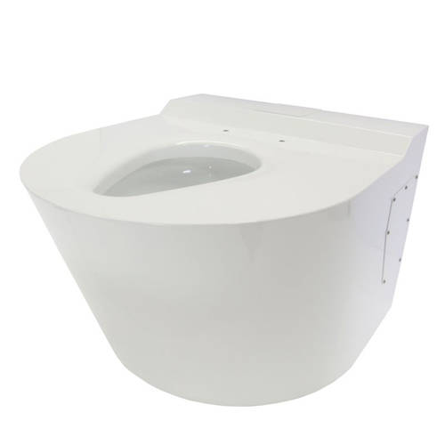 Additional image for Bariatric Back To Wall Toilet Pan (White, 1000kg Load).
