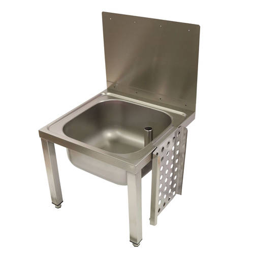 Additional image for Wall Bucket Sink With Legs & Grating 500mm (Stainless Steel).