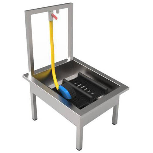 Additional image for Floor Standing Boot Wash Sink (Stainless Steel).