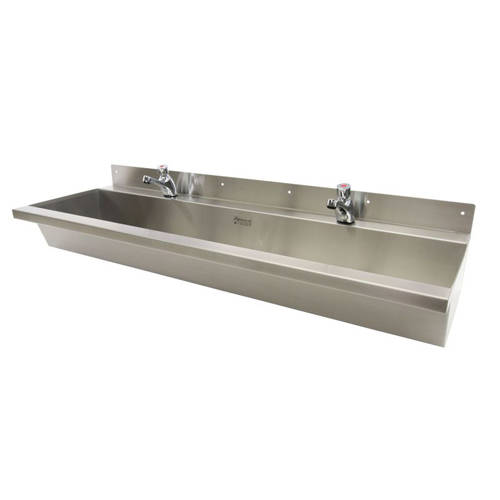 Additional image for Wall Mounted Wash Trough 1500mm (Stainless Steel).