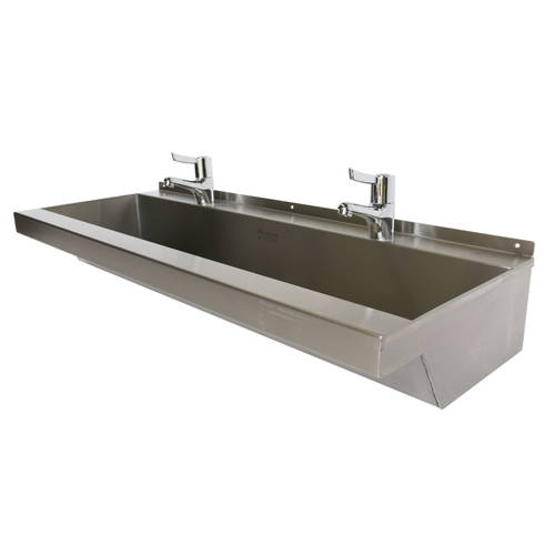 Additional image for Wall Mounted Wash Trough 1500mm (3 TH, S Steel).