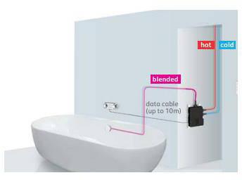Additional image for Digital Bath Valve Kit 09 & Overflow Bath Filler (HP, Combi).