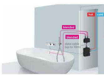 Additional image for Digital Bath Valve Kit 12 With Bath Filler & Shower Kit (Gravity).