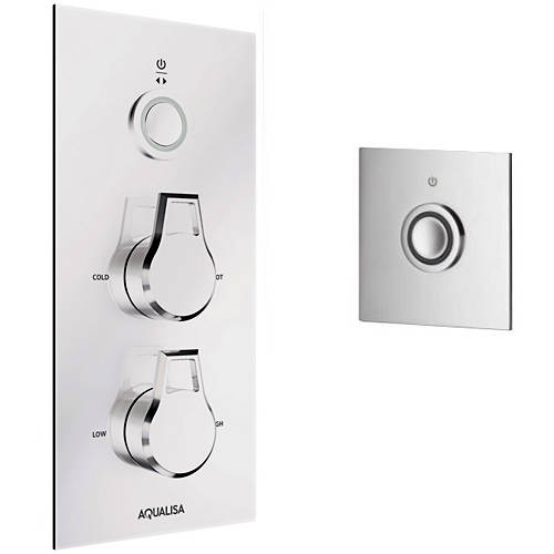 Additional image for Digital Shower Pack 35 (Chrome Astratta Handles, GP).
