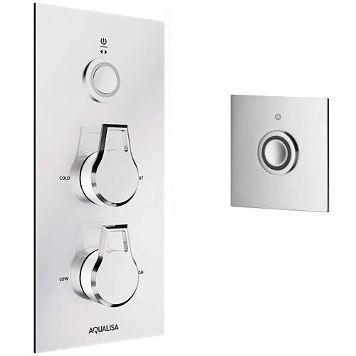 Additional image for Digital Shower Pack 98 (Chrome & White Astratta Handles, HP).