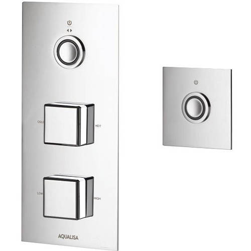 Additional image for Digital Shower Pack 54 (Chrome & White Piazza Handles, HP).