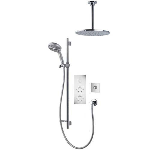 Additional image for Digital Shower Pack 81 (Chrome & White Tondo Handles, GP).