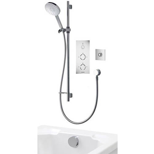 Additional image for Digital Shower Pack 93 (Chrome & White Tondo Handles, GP).