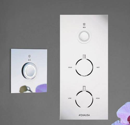 Additional image for Digital Shower Pack 70 (Chrome & White Tondo Handles, HP).