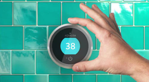 Additional image for Q Smart 16GR, Round Shower Head, Arm & Grey Accent (Gravity).