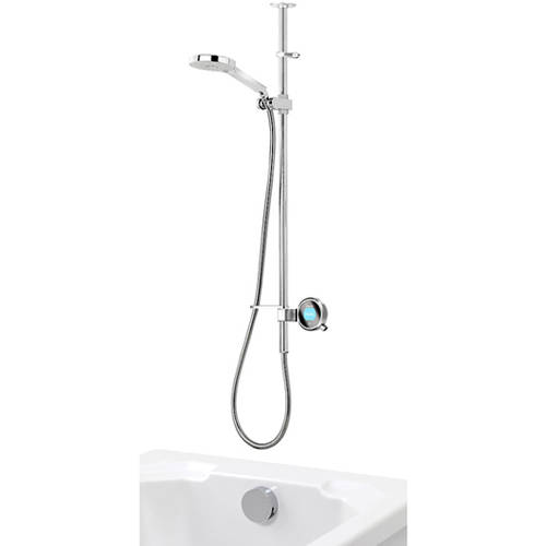 Additional image for Q Smart 25C, Ceiling Fed Rail Kit, Bath Fill & Chrome Accent (HP).