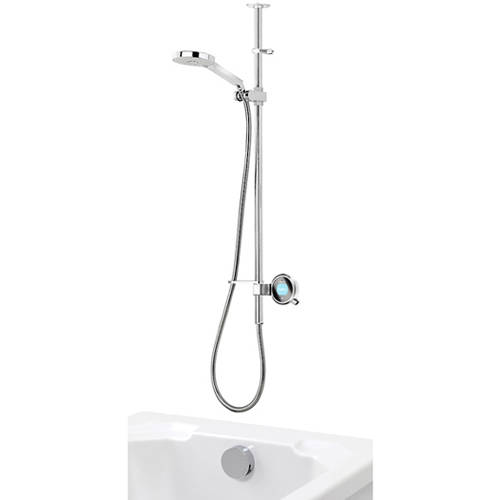 Additional image for Q Smart 26W, Ceiling Fed Rail Kit, Bath Fill & White Accent (Gravity).