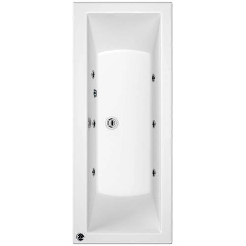 Additional image for Canaletto Double Ended Bath With 6 Jets (1700x750mm).