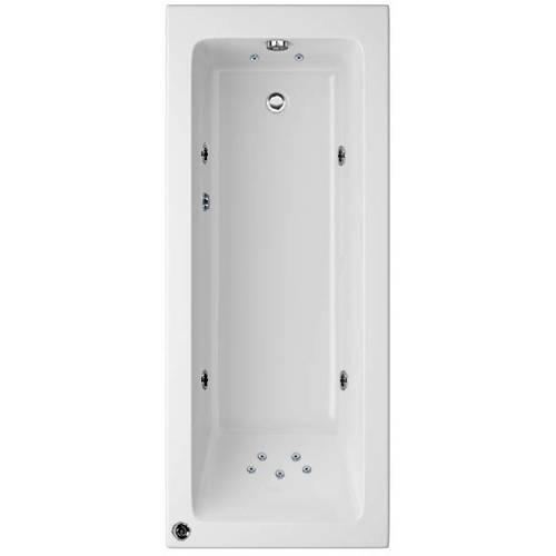 Additional image for Canaletto Single Ended Bath With 11 Jet (1700x750mm).