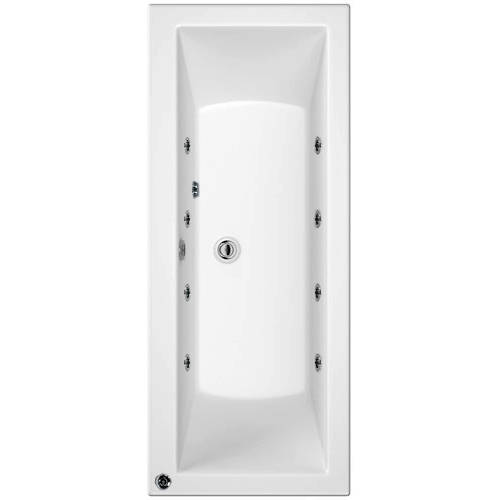 Additional image for Canaletto Double Ended Bath With 8 Jets (1700x800mm).