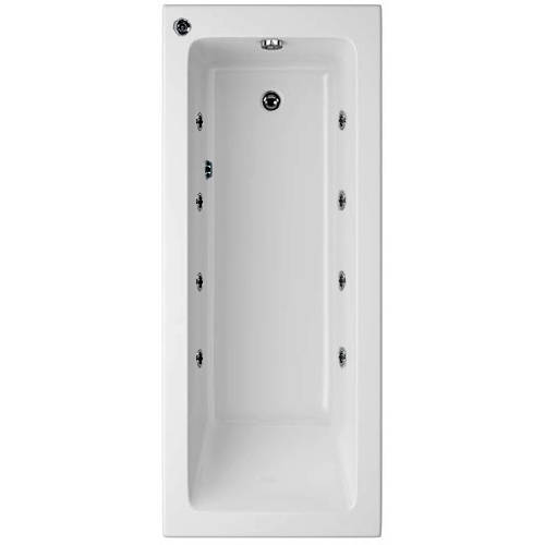 Additional image for Canaletto Single Ended Bath With 8 Jets (1800x800mm).