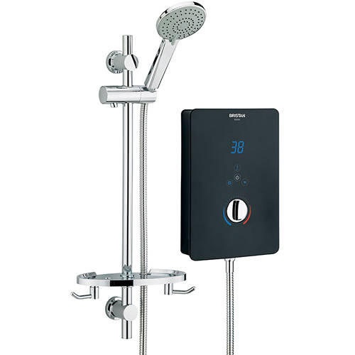 Additional image for Electric Shower With Digital Display 8.5kW (Gloss Black).