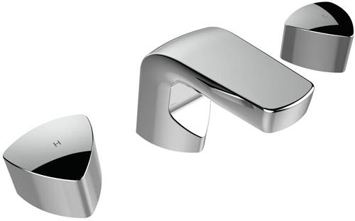 Additional image for 3 Hole Bath Filler Tap (Chrome).