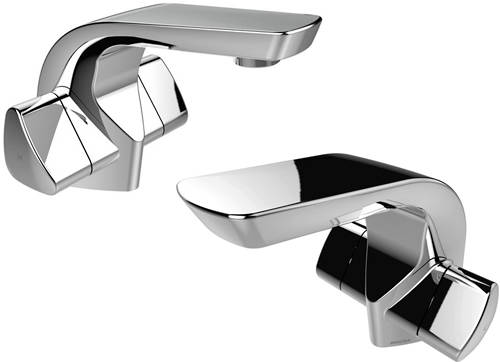 Additional image for Mono Basin & 1 Hole Bath Filler Taps Pack (Chrome).