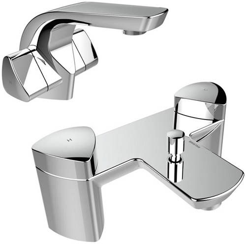 Additional image for Basin & Bath Shower Mixer Taps Pack (Chrome).