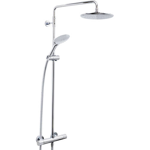 Additional image for Exposed Bar Shower Valve With Riser (2 Outlet, Chrome).