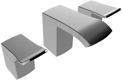 Additional image for 3 Hole Basin & Bath Filler Tap Pack (Chrome).