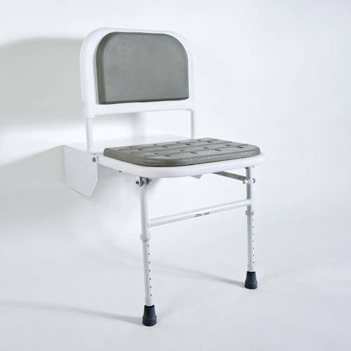 Additional image for DocM Folding Shower Seat With Legs (White).